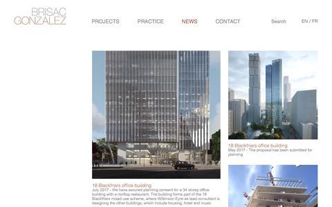 Screenshot of Press Page brisacgonzalez.com - News : Brisac Gonzalez - captured Oct. 11, 2017