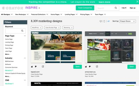 Screenshot of Case Studies Page crayon.co - Marketing Case Studies Pages on WordPress | Website Inspiration and Examples | Crayon - captured Feb. 2, 2018