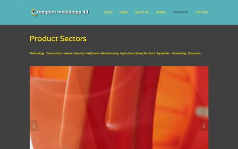 Screenshot of Products Page cromptonmouldings.co.uk - Products — Crompton Mouldings   Rotational Moulded Products   West Yorkshire - captured Jan. 31, 2016