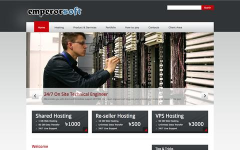 Screenshot of Home Page emperorsoft.net - Emperorsoft | Simple solution for complex world - captured Sept. 23, 2014
