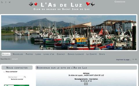 Screenshot of Home Page as-de-luz.fr - le site de l'As de Luz - captured March 24, 2017