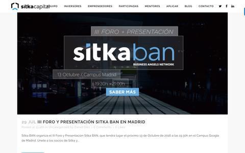 Screenshot of Blog sitkacapital.com - Blog - Sitka Capital Web - captured Oct. 27, 2016