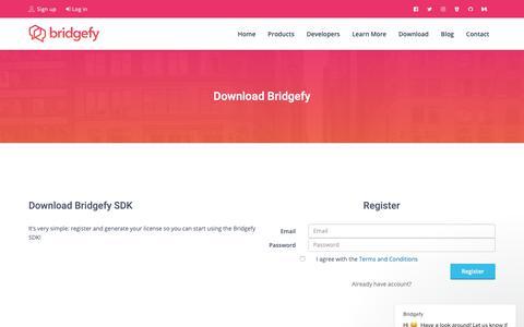 Screenshot of Signup Page bridgefy.me - Bridgefy says… - captured Dec. 9, 2018