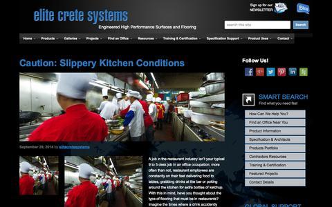 Screenshot of Blog elitecrete.com - Blog - Elite Crete Systems - captured Oct. 30, 2014