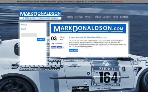 Screenshot of Press Page markdonaldson.com - Mark Donaldson News - captured Oct. 27, 2014
