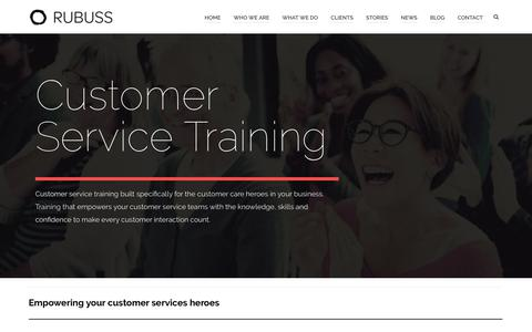 Screenshot of Support Page rubuss.com - Customer Service Training | Rubuss - captured Sept. 25, 2018