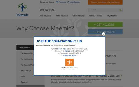 Screenshot of Press Page meemic.com - Insurance for the Educational Community | About Us | Meemic - captured Feb. 12, 2016