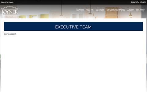Screenshot of Team Page joynerfineproperties.com - Leadership - captured Jan. 26, 2019