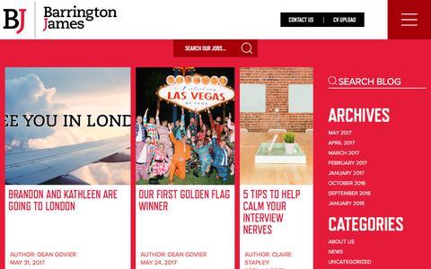 Screenshot of Blog barringtonjames.com - Blog - Barrington James - Barrington James - captured June 1, 2017