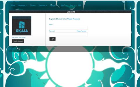 Screenshot of Login Page skaia.website - SkaiaCraft Cracked Minecraft Server - Welcome - captured Oct. 28, 2018