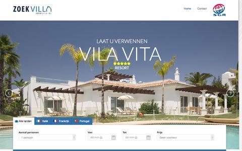 Screenshot of Home Page zoekvilla.nl - Zoekvilla - Luxe Vakantievilla's in Italië, Frankrijk en Portugal - captured Aug. 17, 2015