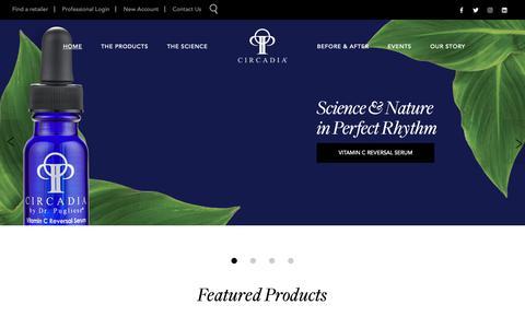 Screenshot of Home Page circadia.com - Circadia - captured June 6, 2019