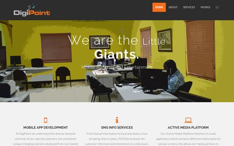Screenshot of Home Page digipoint.biz - DigiPoint Ltd. - Home - captured Oct. 1, 2014