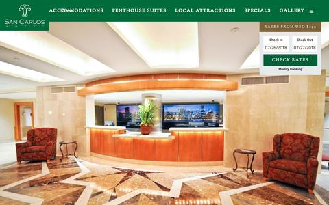 Screenshot of Team Page sancarloshotel.com - Our Team - San Carlos Hotel - captured July 27, 2018