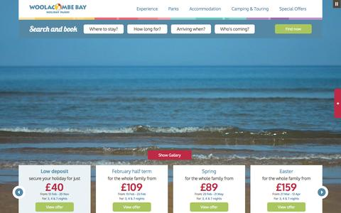 Screenshot of Home Page woolacombe.co.uk - Devon Holiday Parks, Camping & Caravan Parks - Woolacombe - captured Jan. 22, 2015