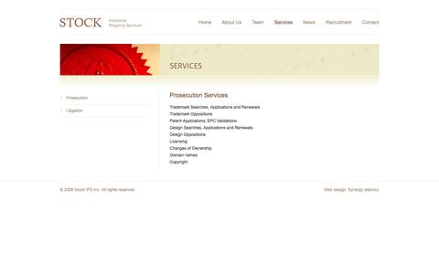 Screenshot of Services Page stock.com.tr - Prosection | Stock - captured Oct. 7, 2014