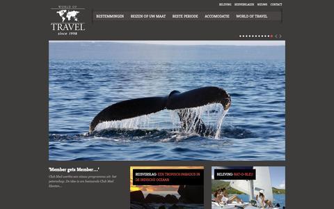 Screenshot of Home Page worldoftravel.be - World Of Travel - captured Oct. 7, 2014