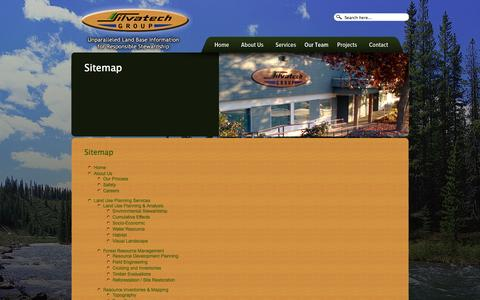 Screenshot of Site Map Page silvatech.ca - Sitemap | Silvatech Group - captured Oct. 26, 2014