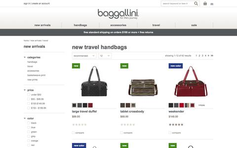 New Travel Handbags at baggallini - Free Shipping over $100