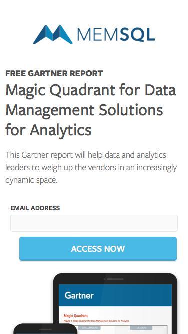 Gartner Magic Quadrant for Data Warehouse Solutions