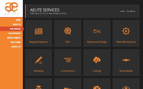 Screenshot of Services Page aelite.co.uk - Aelite Services | What We Do - captured Sept. 19, 2014