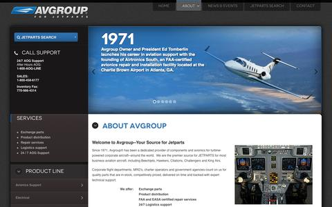Screenshot of About Page jetparts.com - Company Profile - Avgroup - Premier source for Jetparts - captured Oct. 4, 2014