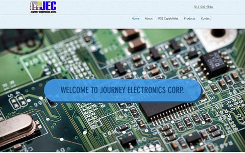 Screenshot of Home Page journeyelectronics.com - Journey Electronics Corp. - captured Oct. 16, 2017