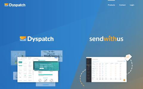 Screenshot of Products Page dyspatch.io - Products | Dyspatch - captured July 12, 2019