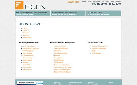 Screenshot of Site Map Page bigfin.com - Sitemap-Bigfin.com LLC - captured Sept. 19, 2014