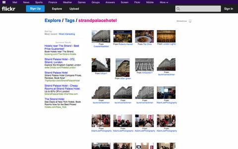 """Screenshot of Flickr Page flickr.com - Flickr: """"strandpalacehotel"""" - captured Oct. 26, 2014"""