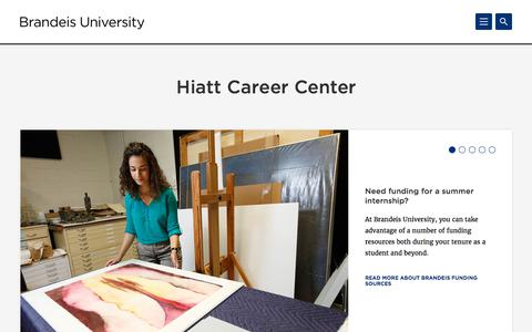 Hiatt Career Center | Brandeis University