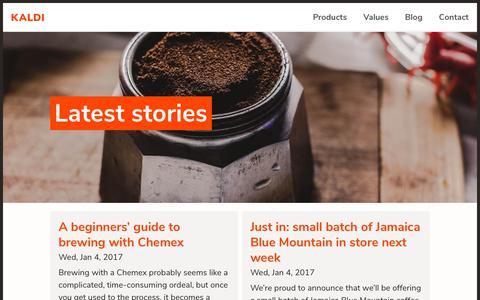 Screenshot of Blog infotrust.kz - Posts | Kaldi - captured Oct. 11, 2018