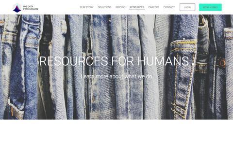Screenshot of FAQ Page bigdataforhumans.com - Resources | Big Data for Humans - captured Dec. 5, 2015