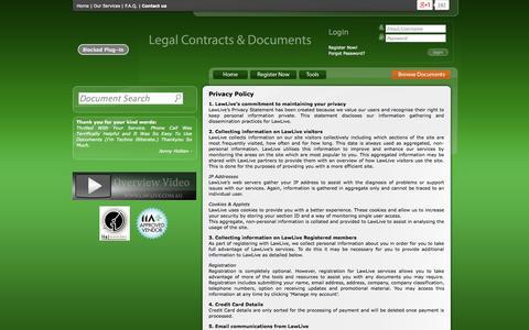 Screenshot of Privacy Page lawlive.com.au - Privacy Policy - LawLive | LawLive - captured Nov. 4, 2014