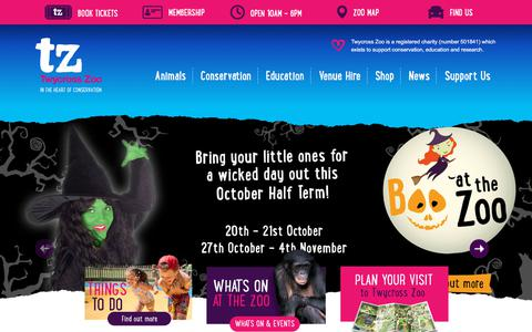 Screenshot of Home Page twycrosszoo.org - Fun Family Day Trip at Twycross Zoo, In the heart of Conservation - captured Sept. 21, 2018
