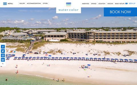 Screenshot of Home Page watercolorresort.com - Florida Gulf Coast Resorts | WaterColor Inn & Resort | 30A - captured Oct. 8, 2017