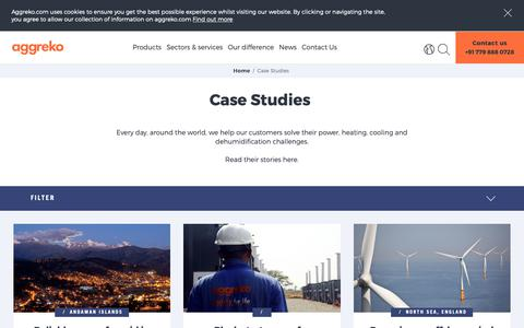 Screenshot of Case Studies Page aggreko.com - Case Studies | Aggreko - captured Oct. 21, 2018