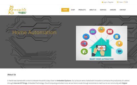 Screenshot of Home Page e-rachit.com - E-Rachit - captured Sept. 25, 2018