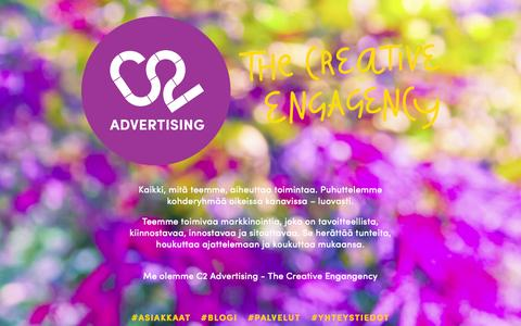 Screenshot of Home Page c2.fi - C2 Advertising / C2 Advertising - The Creative Engagency - captured June 17, 2015