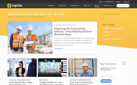Enterprise Mobility News, Mobile App Development Blog