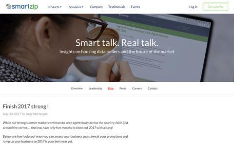Screenshot of Blog smartzip.com - Blog | SmartZip - captured Aug. 7, 2017