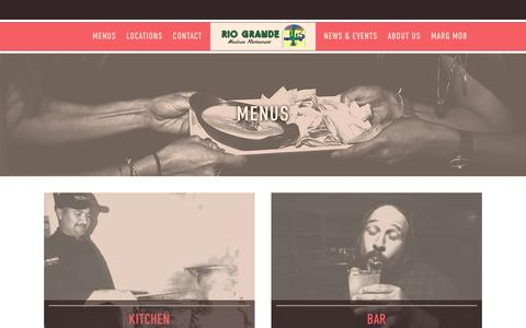 Screenshot of Menu Page riograndemexican.com - Food & Drink Menus   Rio Grande Mexican Restaurant - captured Oct. 19, 2018