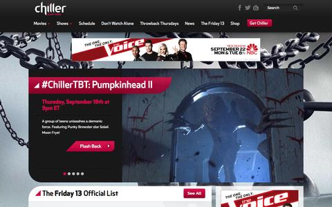 Screenshot of Contact Page fearnet.com - Chiller | Scary Good - captured Sept. 18, 2014