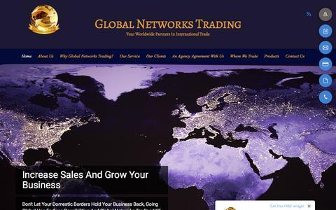 Screenshot of Home Page globalnetworkstrading.com - Home - Global Networks Trading - captured Nov. 8, 2016