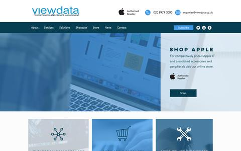 Screenshot of Home Page viewdata.co.uk - IT Solutions | Apple Authorised Reseller | Viewdata Computing Ltd - captured Oct. 20, 2018