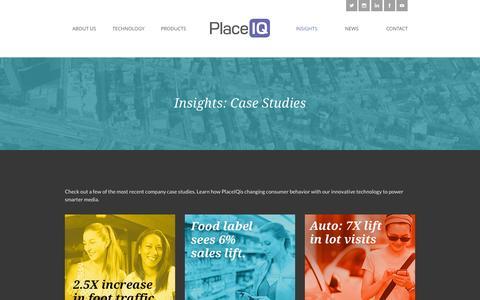 Screenshot of Case Studies Page placeiq.com - Insights: Case Studies | PlaceIQ - captured Oct. 5, 2015