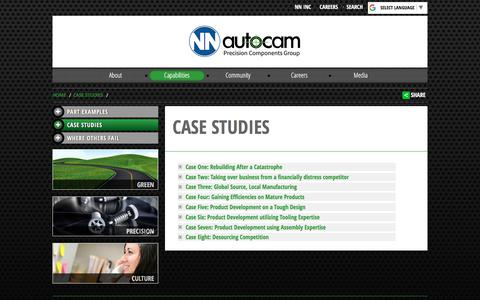Screenshot of Case Studies Page autocam.com - Case Studies | Autocam Automotive - captured July 31, 2018
