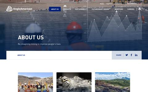 Screenshot of About Page angloamerican.com - About Us – Anglo American - captured July 13, 2019