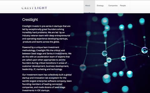 Screenshot of About Page crestlight.com - Crestlight   –  Lean Equity - captured Oct. 3, 2014