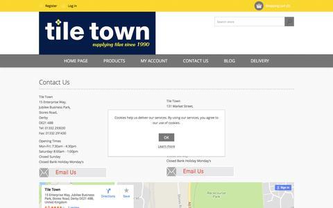 Screenshot of Contact Page tiletown.co.uk - Contact Us - captured Oct. 24, 2017